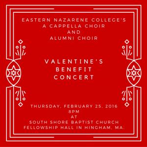ENC, Alumni Concert, A Capella, Valentine's Concert, benefit concert