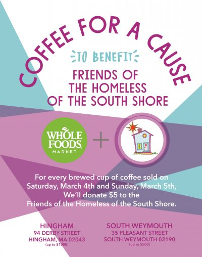 Whole Foods, Hingham, Weymouth, Coffee for a Cause, Java, cup of joe